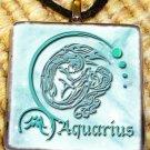 Aquarius Glass Pendant
