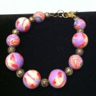 Beautiful Vivid Polymer Clay Bracelet