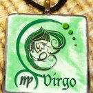 Virgo Glass Pendant