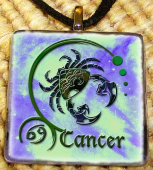 Cancer Glass Pendant