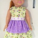 "Green and Purple 18"" Handmade Doll Outfit"