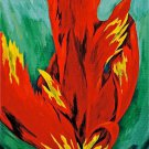 Petals of Fire, 3 Acrylic on Canvas 8x10 Framed