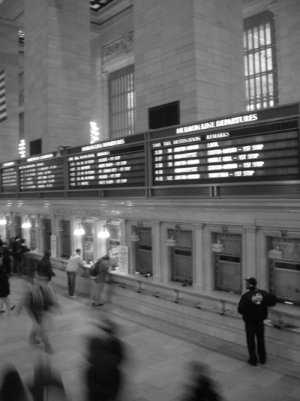 Grand Central Lobby 8x10 matted and framed.