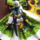 Angel of Love- Greens with Sunflowers