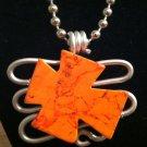 Orange Granite Stone Pendant