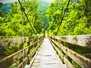 Bridge to Nowhere 16x20 gallery wrapped canvas