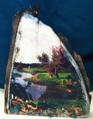 Slow Meandering River Wood Art