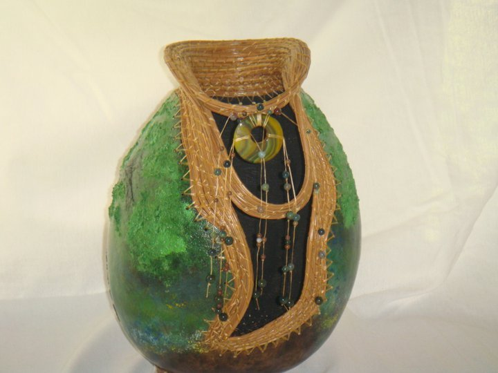 Repose - 168-11 Hand Carved Gourd