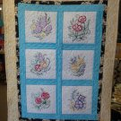 Mother Nature's Flowers Quilt 36x42