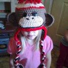 basic sock monkey hat