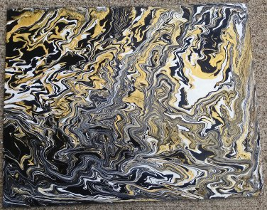 Black and Gold 12x16 Abstract