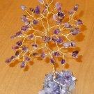 6 inch AMETHYST gem stone tree on an AMETHYST crystal base