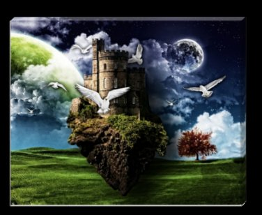 Castle in the Sky 16x20 Digital Canvas