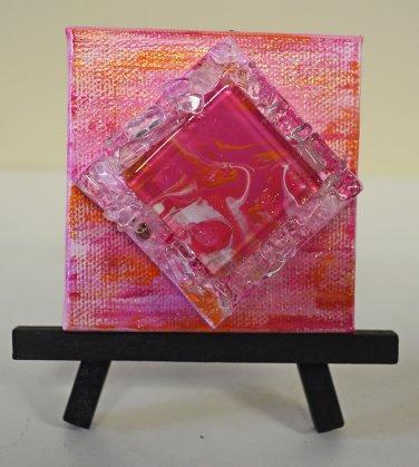 Mini InnergyArt - Pink, Orange and White with Quartz