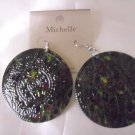 BEAUTIFUL MIXED COLORS BIG ROUND EARRINGS!!!