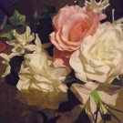 GORGEOUS SILK ROSE BOUQUET WITH OTHER FLOWERS IN IT AS FILLERS