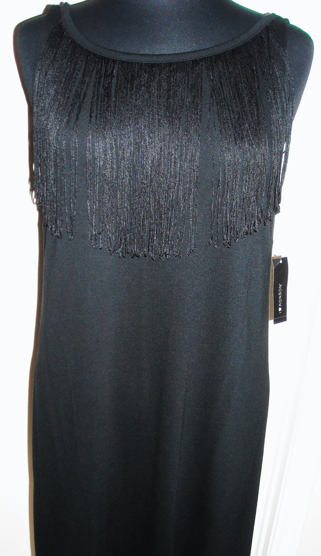 I HEART RONSON BLACK FRINGE DRESS SIZE L (NEW)