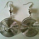 SILVER ROUND EARRINGS (NEW)