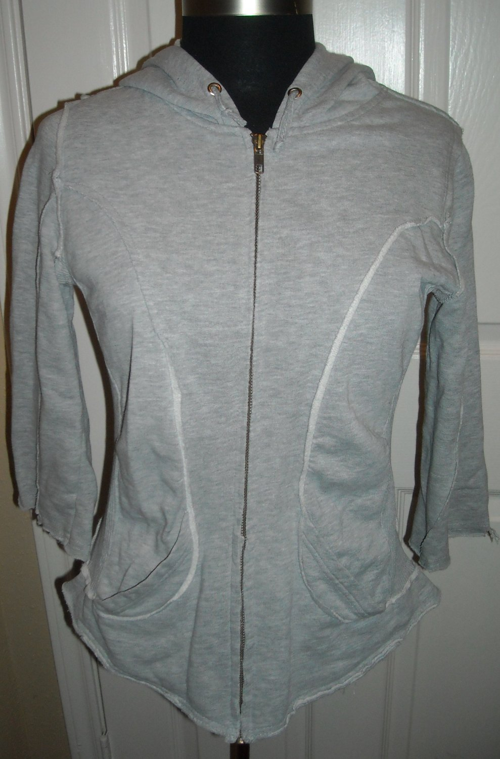 FREE PEOPLE PATTERN PIECED ZIP UP HOODIE SIZE M (NEW)