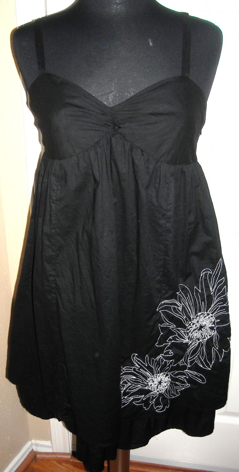 LIBERTY OF LONDON BLACK SHORT SUNDRESS SIZE 6 (NEW)