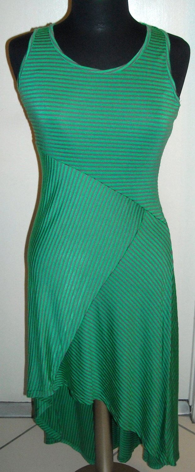 MAJIC GREEN AND BROWN SLEEVELESS DRESS SIZE M (NEW)
