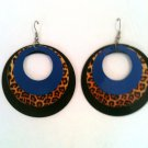 ROUND EARRINGS WITH ANIMAL PRINT (NEW)