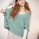 Short Sleeved  Poncho Sweater#612