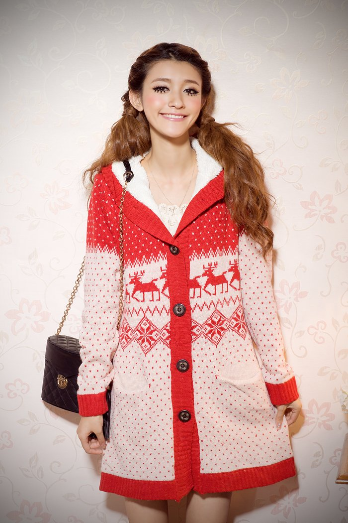 Snowflake knitted Sweater#88081