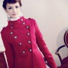 Women double-breasted wool coat#96431