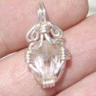 Crystal silver pendant 1.7 grams natural Topaz $65.00