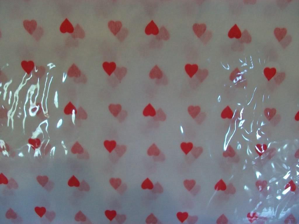 25 Sheets Hearts on White Tissue Paper ~  NIP