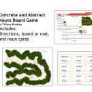 Grammar, Abstract and Concrete Nouns Game Board - Great for Literacy Center or Small Group (PDF)