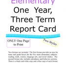 End of the Year One Page Report Card Three Term & Final Grade (PDF) Super for Home & Private Schools