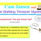 Cam Jansen and the Barking Treasure Mystery Comprehension Test, Quiz, or Check with Answer Key (PDF)