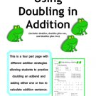 """Using Doubling in Addition"" math practice of Doubles, Doubles Plus One, & Doubles Plus Two (PDF)"