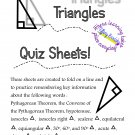 Triangles Quiz Sheet for High School and Adult Ed. Geometry Students PDF