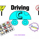 Driving C File Folder Game or Literacy Center for Letter C, hard /k/ Sound PDF