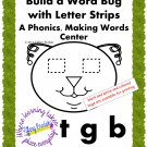 Fun Bug Build a Word Phonics, Making Words Reading Center; for ESOL & ESE too!