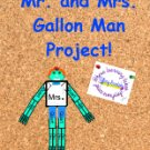Mr. and Mrs. Gallon Man Math Measurement Project