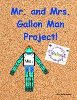 Mr. and Mrs. Gallon Man Math Measurement Project