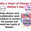 Happy Mother's Day Multiplication and Division Word Problem Puzzles PDF
