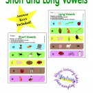 Short and Long Vowels Worksheets in PDF