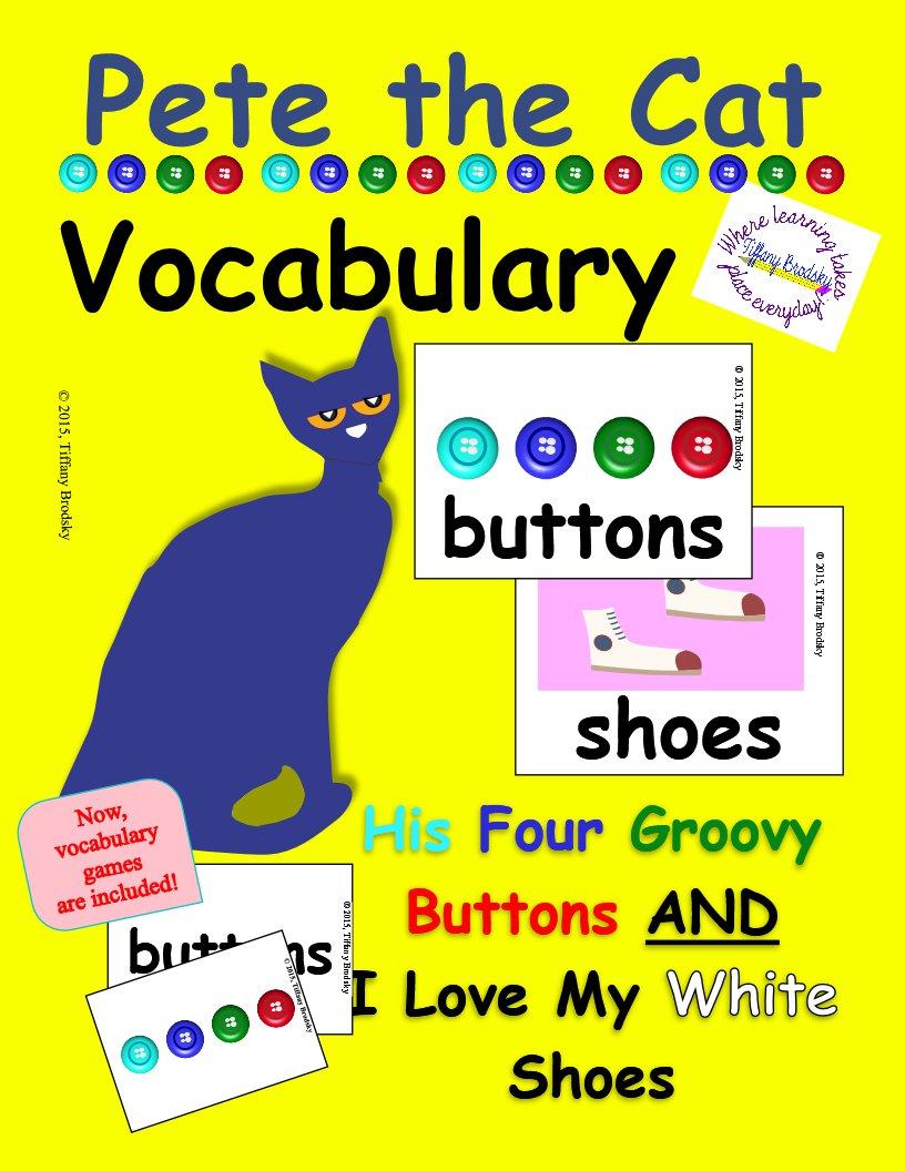 Pete the Cat Vocabulary Cards PDF