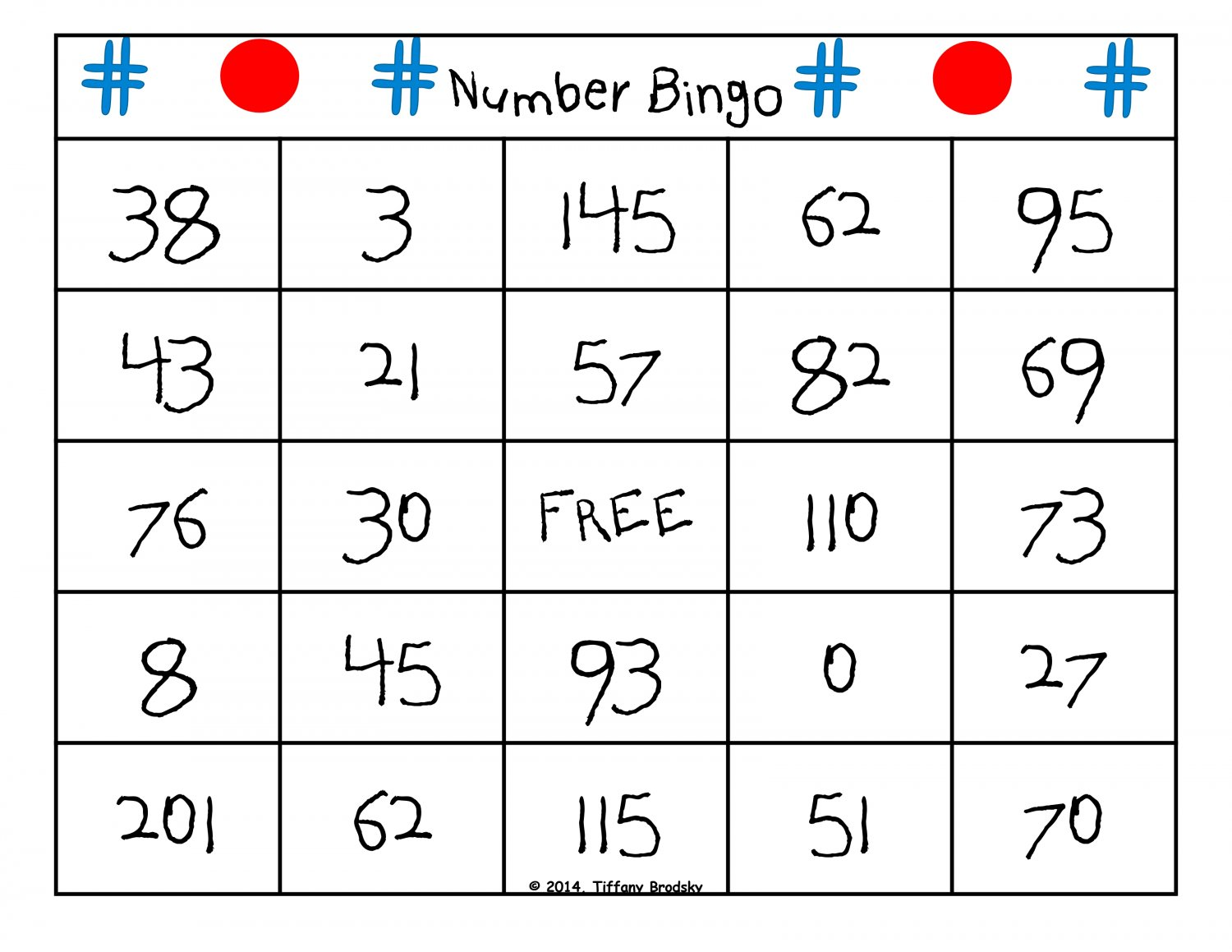 Number Bingo! 5 Card Game for Math Learning Center or Vocabulary/Literacy Center PDF