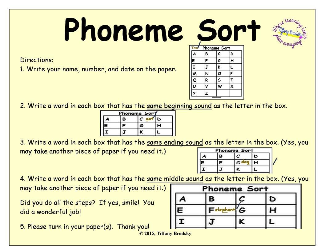 Phoneme Sort in PDF