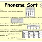 Phoneme Sort in PDF