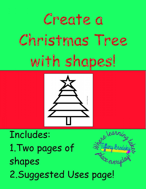 Create a Christmas Tree with Shapes PDF