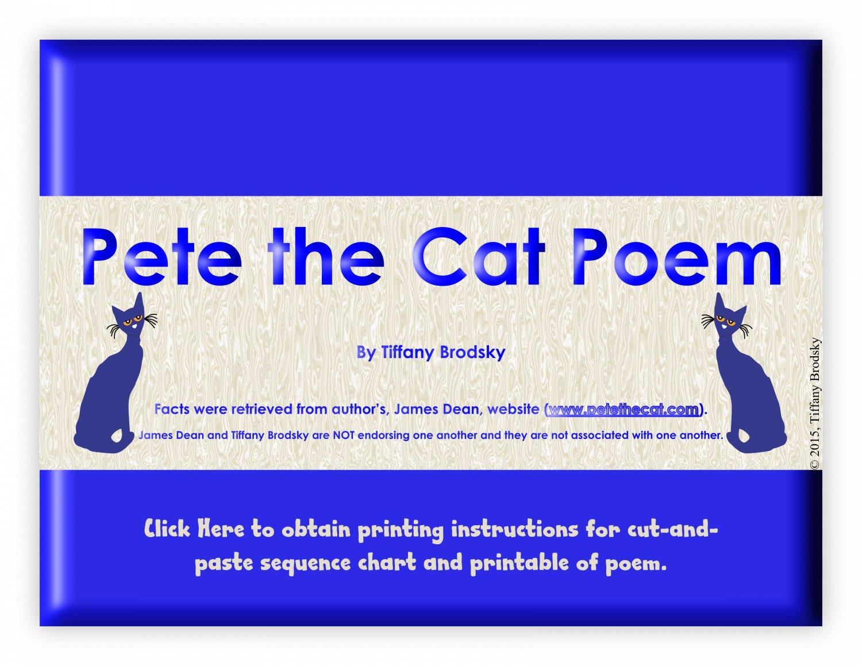 Pete the Cat Introduction Poem PDF