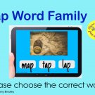 NO PREP, Interactive -ap Word Family Text to Picture Matching Game in PDF