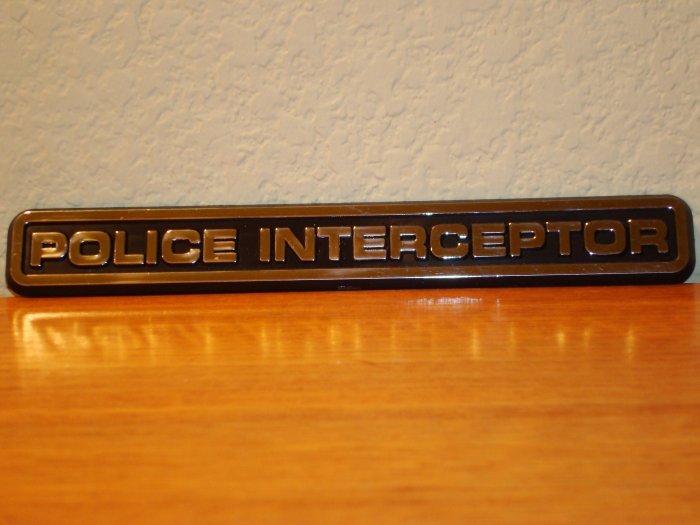 "P71 'Police Interceptor Emblem"""